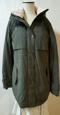 A.N.A.  Green Winter Coat Parka Size Large Cold Weather Rated -4 F  Hood Pockets #ana #Parka