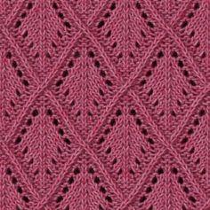 lace diamond free knitting stitch
