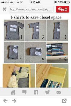 I need to learn how to fold my clothes.