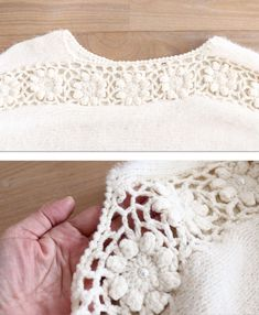 Crochet Jumper, Crochet Cardigan, Crochet Lace, Easy Crochet Patterns, Crochet Designs, Crochet World, Hand Knitted Sweaters, Yarn Shop, Crochet Fashion