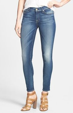 7 For All Mankind Skinny Ankle Jeans.  Only limited sizes left, on sale for $140. Love the back pockets on these.   Great jeans.