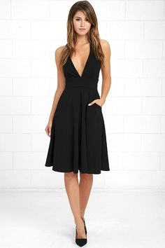 f20470ac7c5c The Finesse Black Midi Dress is a timeless addition to your wardrobe to  keep you in