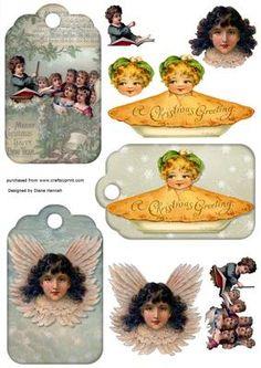 Christmas Tags on Craftsuprint - View Now!