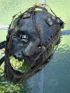 Seth saved to vintageThe Wretching Mask SOLD 1 by purplenothing - Arte Horror, Horror Art, Larp, Mascaras Halloween, Masque Halloween, Creepy Masks, The Mask Costume, Leather Mask, Masks Art