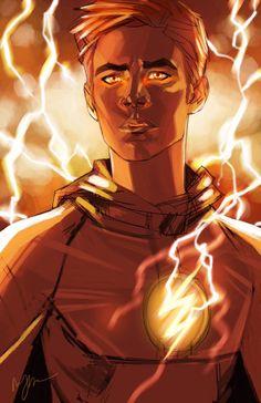The Flash - Grantin Gustin fan art. Kid Flash, The Flash Art, Flash Drawing, Flash Characters, Flash Comics, Flash Barry Allen, Flash Wallpaper, Superhero Shows, The Flash Grant Gustin