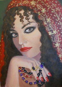 beautiful gypsy portrait paintings | Dian Bernardo › Portfolio › A GYPSY LADY