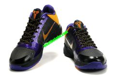 Kobe V LA Lakers Away Black Varsity Purple Yellow 386430 071