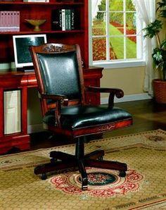 Traditional Multi Black Vinyl Office Chair