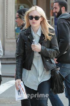 @Religionclothing Hopper Leather Jacket Dakota Fanning