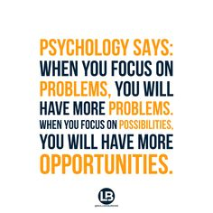 Where are YOU focusing?
