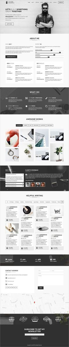 CVIT is a Multipurpose #Bootstrap Template for Personal #Portfolio / #vCard / #CV / Resume website download now➩ https://themeforest.net/item/cvit-multipurpose-personal-portfolio-vcard-cv-resume-template/18627094?ref=Datasata