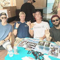Cody Simpson, Kolohe Andino, Evan Geiselman