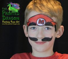 Photo Gallery - The Painted Dragon -- Face painting for the Quad Cities and surronding areas: Mario Dragon Face Painting, Face Painting For Boys, Face Painting Designs, Body Painting, Boy Face, Child Face, Glitter Face, Super Mario Party, Quad Cities