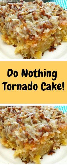 Do Nothing Tornado Cake! Pineapple Top, Crushed Pineapple, Butter Pecan Cake, Salted Butter, Baking Pans, Baking Soda, Tornado Cake, Milk Cake, 350 Degrees