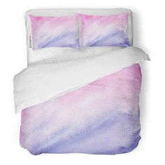 Amazon.com: Semtomn Decor Duvet Cover Set King Size Blue Rose Quartz and Serenity Watercolor Abstract Gradient Raster 3 Piece Brushed Microfiber Fabric Print Bedding Set Cover: Gateway