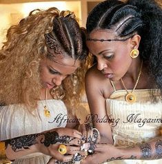 Ethiopian Traditional Braids and Henna.