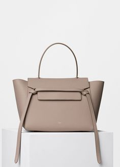 Small Belt Bag in Light Taupe Grained Calfskin - Céline
