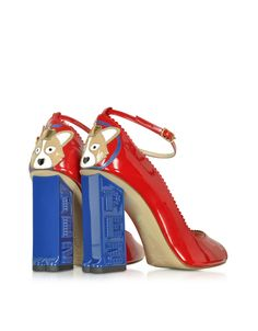 b901ec47747b52 Pez Classics Princess Corgi Pump crafted in patent leather with a sweet  little corgie applique