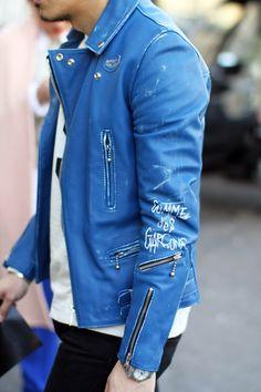 Comme des Garçons blue jacket