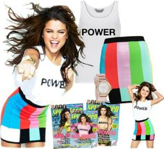 """""""Get the look: Selena Gomez"""" by jullianaisabel on Polyvore"""