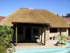 20 Fantastic Small House Design Ideas With Thatched Roof - Roof brick - Roof cladding Brick Roof, Roof Beam, Metal Roof, Thatched House, Thatched Roof, Hut House, House Roof, Best Small House Designs, Roof Cladding