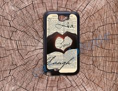 Live Love Laugh- Samsung Galaxy Note2 Case Samsung S3 Case Cell Phone Cover for Samsung Galaxy Note 2/S3