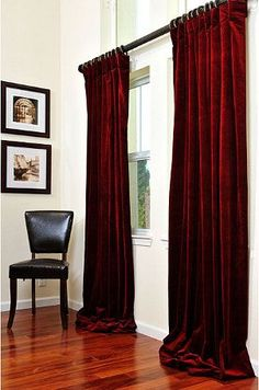 Cool Great Velour Curtains 51 In Home Decor Ideas With Velour Curtains · Red  Living ...