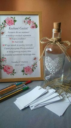Wedding Gifts For Guests Księga gości Wedding Gifts For Guests, Wedding Guest Book, Wedding Cards, Wedding Favors, Wedding Day, My Perfect Wedding, Guest Gifts, Wedding Table Decorations, Arte Floral