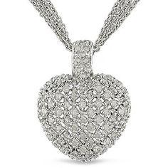 1 Carat T.W. Diamond Heart Pendant with 3-Strand Chain in Sterling Silver $84.99    http://www.rebategiant.com/store/320/walmart.html