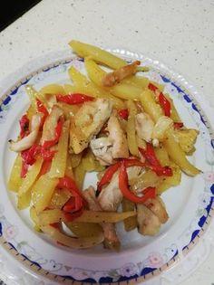 Cartofi cu ardei gras și piept pui la cuptor Meat, Chicken, Recipes, Food, Recipies, Essen, Meals, Ripped Recipes, Yemek