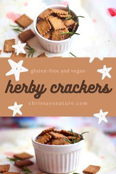 I don't know about you, but I love snacking. Whether that may be fruit, chips, leftovers, or just these bomb gluten-free crackers. To be honest, I wasn't a huge cracker lover, but this recipe proves me wrong. It is crunchy, flavourful and so delicious. #snack #healthy #herbs #party