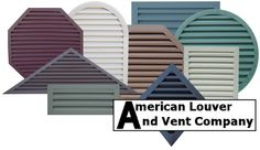 American Louver and Vent Company Custom Gable Vents - for the new garage (www.alvcompany.com)