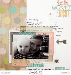 iLoveSchnipsel: Ich wusste nicht... {Layout-Werkstatt} mit {Simple Stories - Hello Baby}