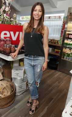 Jessica Biel from The Big Picture: Today's Hot Pics  Biel does back to school! The actress hosts an event at her restaurant, Au Fudge, in L.A.