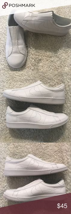Women's Nike sneakers All white super clean and fresh look. Worn once. A++condition Nike Shoes Sneakers