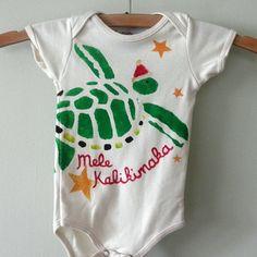 Hawaiian Christmas onesie by littledewdrops on Etsy. LOVE it!