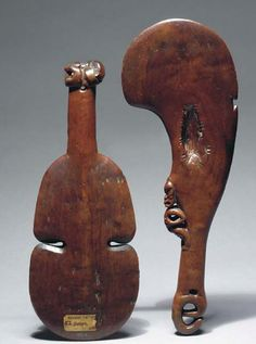 This article looks at the various types of Polynesian war clubs. It has lots of images to help readers identify where their Polynesian war club comes from and what it is worth. tribal war clubs are sometimes called wooden clubs or Pacific island clubs Polynesian Art, Polynesian People, Arte Tribal, Tribal Art, Maori Symbols, Wood Sculpture, Sculpture Ideas, Sculptures, Maori Art