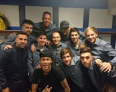 Team barca after 4-0 win over Real Madrid 21/11/15