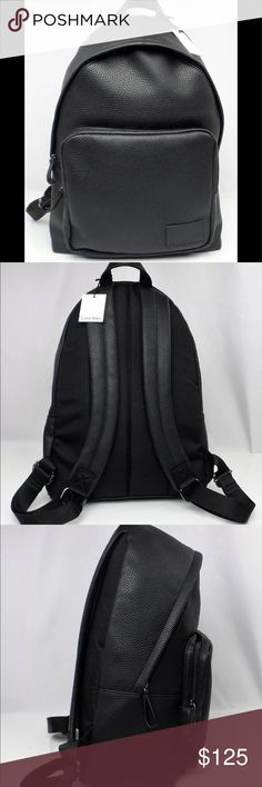"Calvin Klein pebble backpack 🎒 Product Details Zipper closure Item number: 75025096 Pebbled Polyurethane (leather look), Nylon exterior Exterior front zip pocket  Adjustable Shoulder straps  Top handle Interior features 1 zipper pocket and 2 open pockets Interior padded sleeve for laptop or tablet 11 1/2"" L x 16 1/2"" H x 5 1/2"" W Color: Black MSRP: $218.00 Condition: Brand New with Tags Calvin Klein Bags Backpacks"