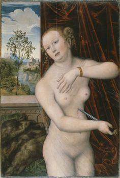 ❤ - LUCAS CRANACH (1472 - 1553) - The suicide of Lucretia - 1518.