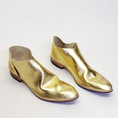 The Terilyn. Gold. 2cm. Handmade Modern Shoes. Womens Shoes. Soft Shoes.