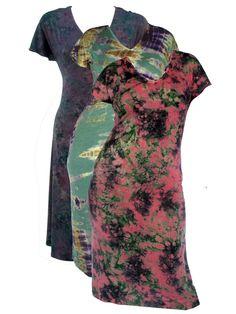Tie dye short sleeve dress
