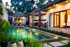 Angel's Villa - is a single-storey, three-bedroom villa, complete with a 12 x 3 meter lap pool, hidden in the heart of the Petitenget area on Bali's south-western coast.