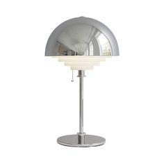 Herstal bordlampe - Motown - Krom H 61 x Ø 36 cm Interiors Online, Motown, Kitchen Interior, My House, Chrome, Lighting, Table, Furniture, Design