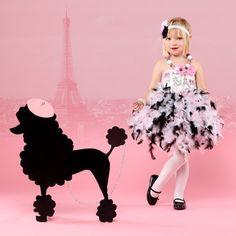 adorable parisian poodle dress for paris party