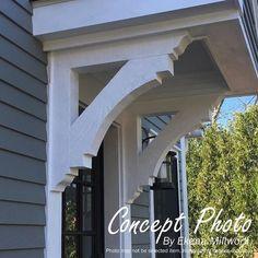 Front Door Overhang, Front Porch Pergola, Front Door Awning, Front Door Canopy, Small Front Porches, Front Porch Design, Porch Roof, Side Porch, Front Porch Columns