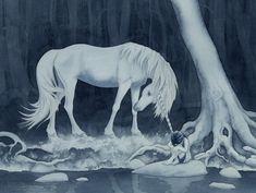 """But I Am Here"" by MistiqueStudio on dA.  Watercolor, 12"" x 16""."