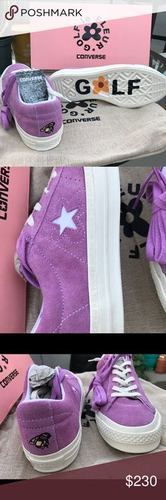 Golf Le Fleur Converse One Star Golf Le Fleur Converse One Star by Tyler the Creator, Purple, MEN'S Size 7/Women's Size 9, BRAND NEW with box, perfect condition, includes dust bag and purple laces. Golf Wang Shoes Sneakers
