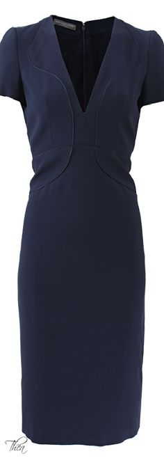 Alexander McQueen ● V-Neck Detail Dress....so pretty, so expensive........but I would totally rock this at work!