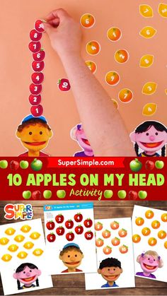If you have been enjoying our song '10 Apples On My Head', make your students this fun counting game to practice along with the song! The printables are free! Counting Activities, Craft Activities For Kids, Fun Songs, Felt Birds, Teaching Kindergarten, English Lessons, Therapy Ideas, Occupational Therapy, Toddler Preschool